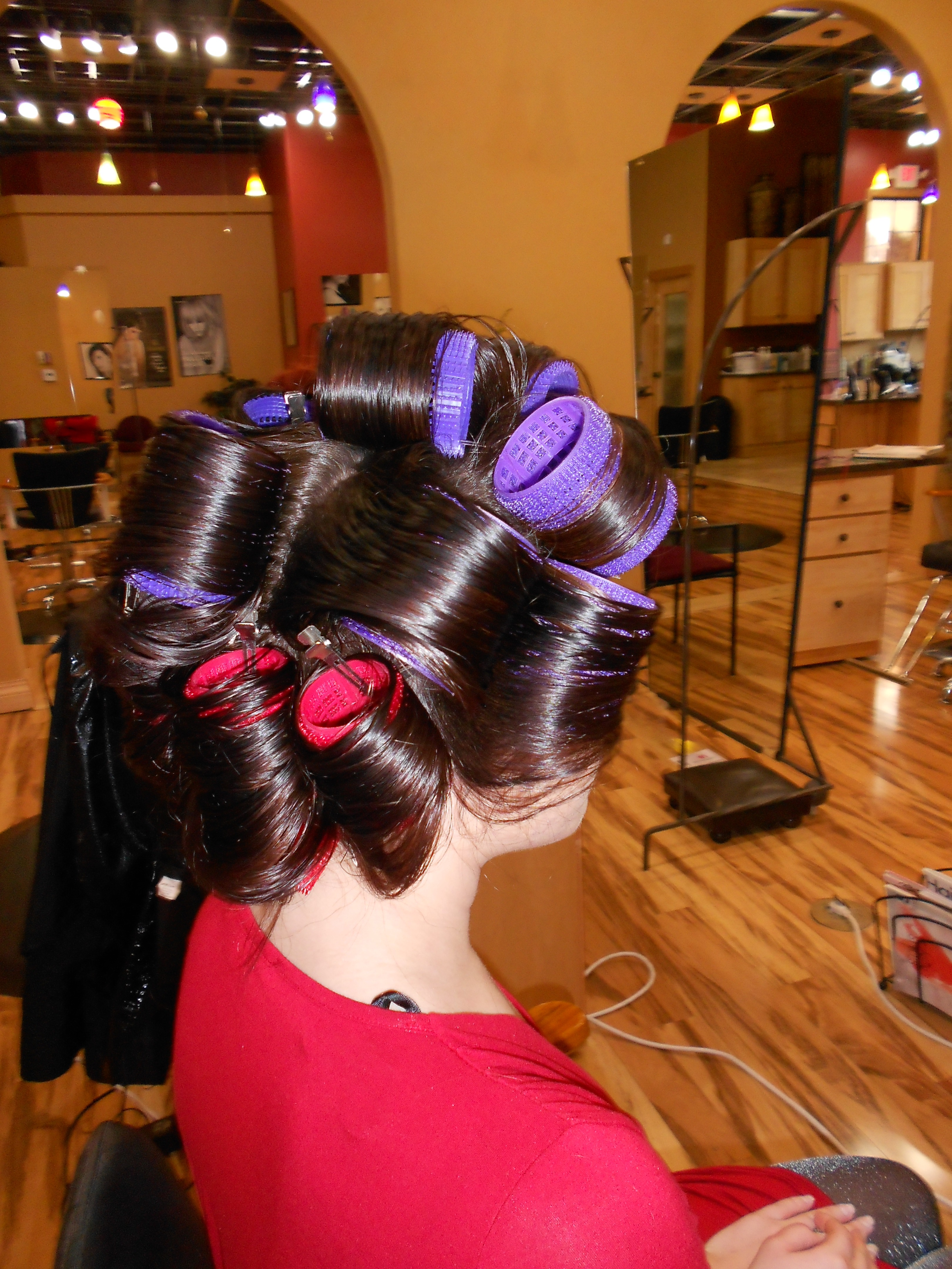 Roller Set in Hair Salon http://blog.havensalonspa.com/tag/hollywood/
